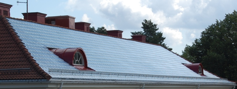 telhas de vidro sistema de aquecimento