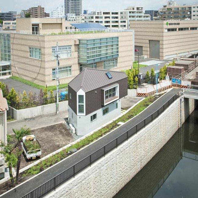 casa triangular apartamento japão pouco espaço
