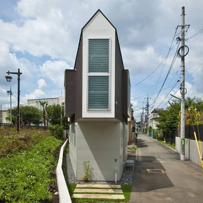 casa triangular casas pequenas mizuishi-architect-atelier