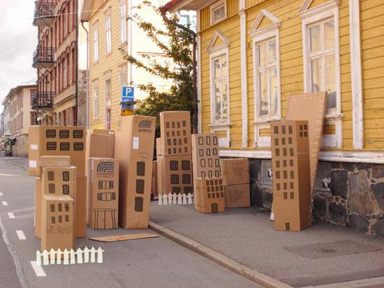 cidade edifícios casas de cartão brincar