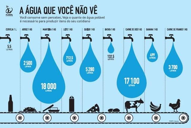 água virtual comida