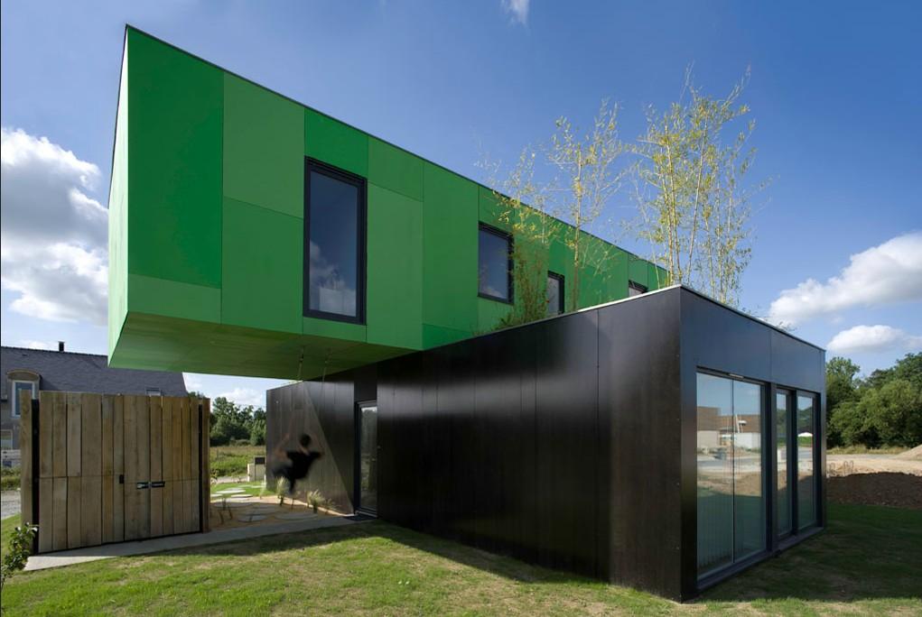Casa Crossbox na França contentores