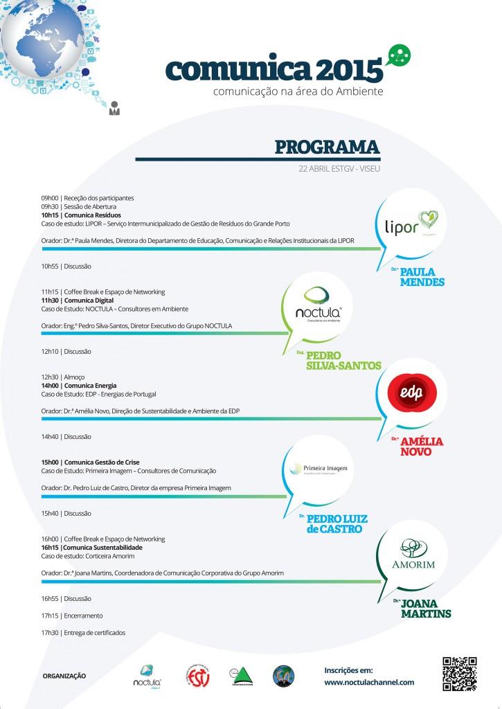 Programa Conferência COMUNICA 2015 - Comunicação na área do Ambiente