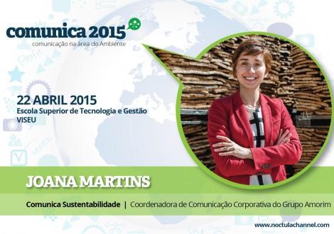 Comunica 2015 comunicação na área do ambiente, Joana Martins corticeira amorim
