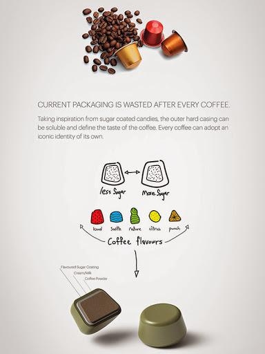 cápsulas de café embalagem