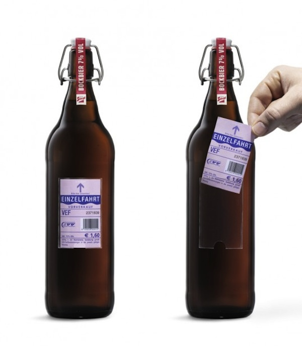 Cerveja Stiegl transportes publicos
