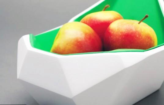Designer Jagjit Choda criou uma taça que deteta quando a fruta está a começar a ficar estragada, alertando as pessoas que esta tem de ser comida muito em breve, diminuindo assim o desperdício alimentar.