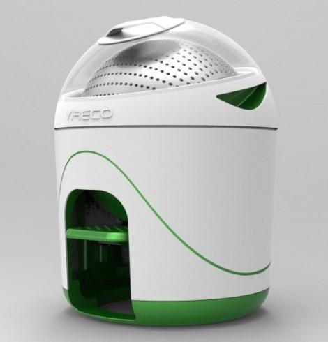 A Yirego, empresa criadora da máquina de lavar portátil de nome Drumi, considera que não existe grande segredo na tecnologia utilizada, basta pressionar um pedal.