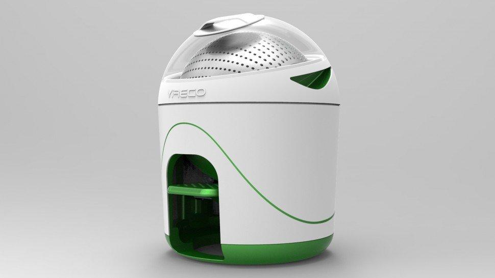 A Yirego, empresa criadora da máquina de lavar roupa portátil de nome Drumi, considera que não existe grande segredo na tecnologia utilizada, basta pressionar um pedal.