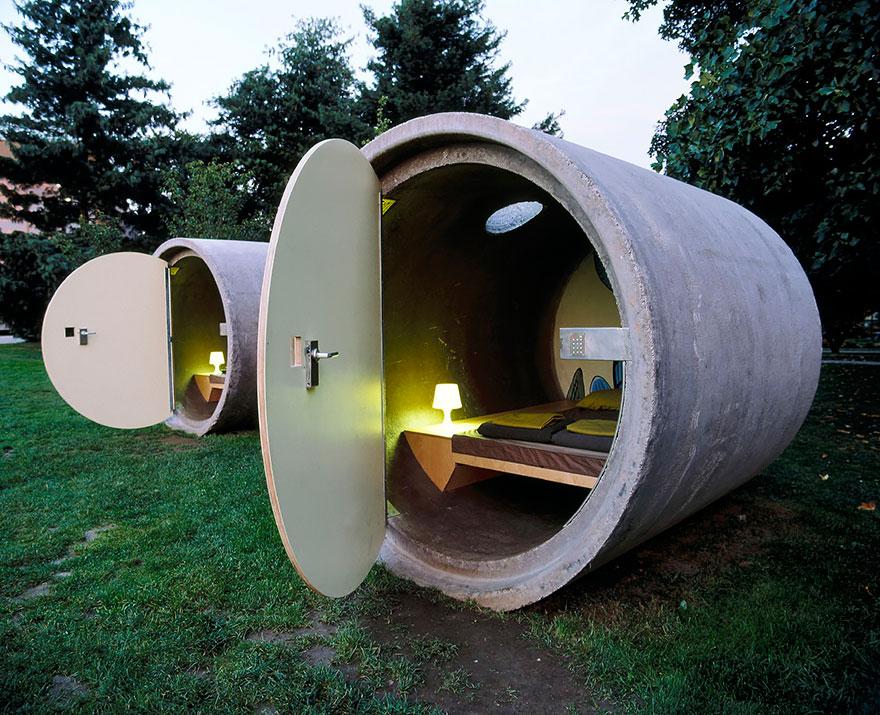 casa tubo de betão