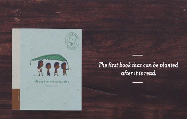 livro com sementes jacarandá