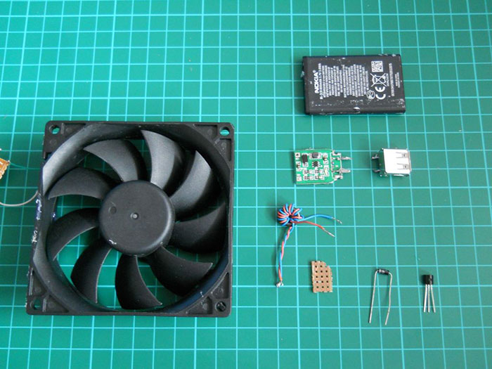 materiais para fazer um carregador de telemóvel