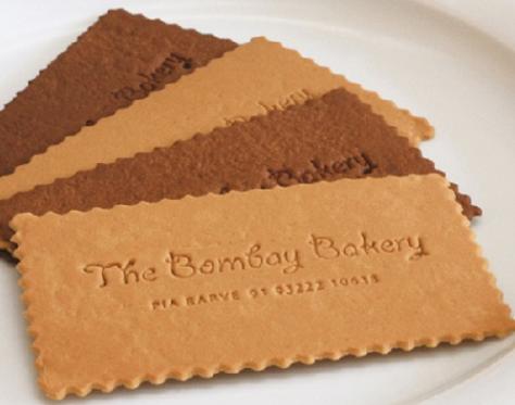 cartões de visita criativos pastelaria