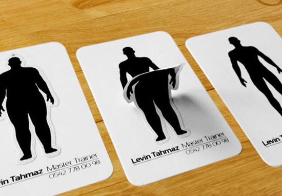 cartões de visita criativos personal trainer