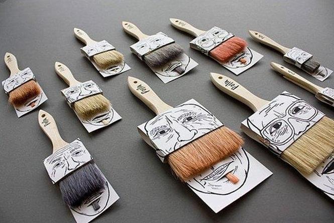 embalagens criativas pinceis