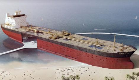 The Black Gold e é uma proposta para transformar um navio petroleiro abandonado gigante e reutilizá-lo como edifício público.