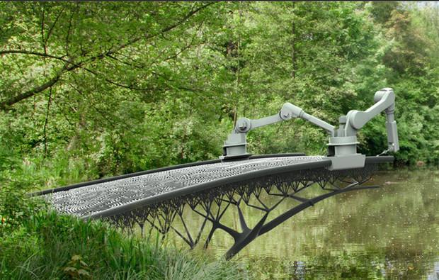 A cidade de Amesterdão, na Holanda, caracterizada pelos seus canais e pontes, terá mais uma ponte, mas desta vez será construída em pleno ar, graças a uma impressora 3D desenvolvida pela empresa MX3D.