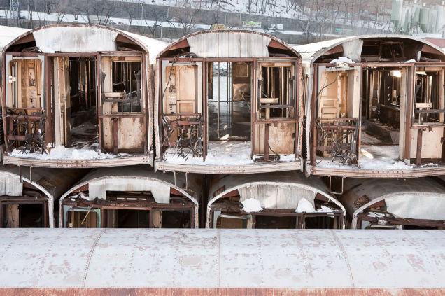 Nova Iorque carruagens metro usadas