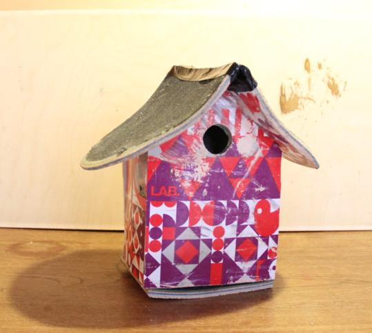casa para aves abrigo skate
