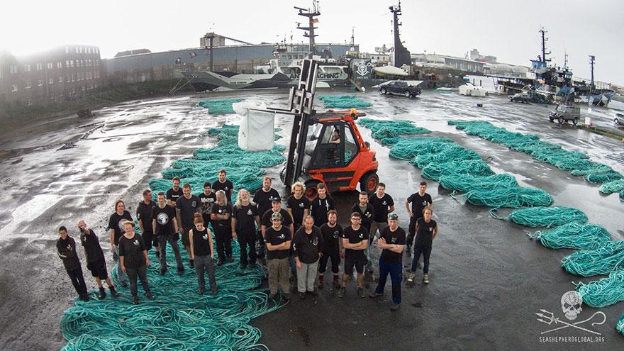 redes de pesca plástico