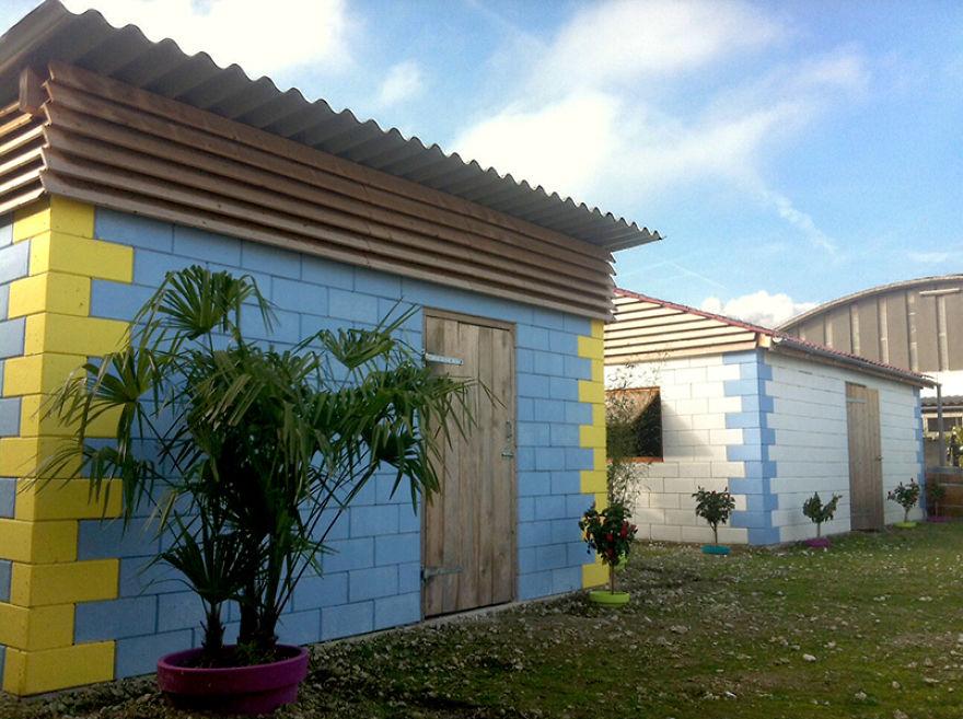 Destroços tijolos q-brixx casas