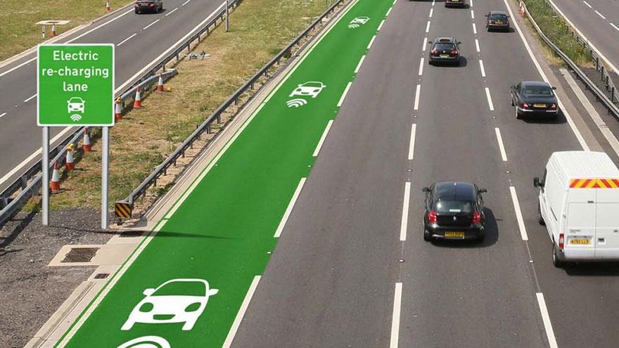 Estrada para carros elétricos inglaterra