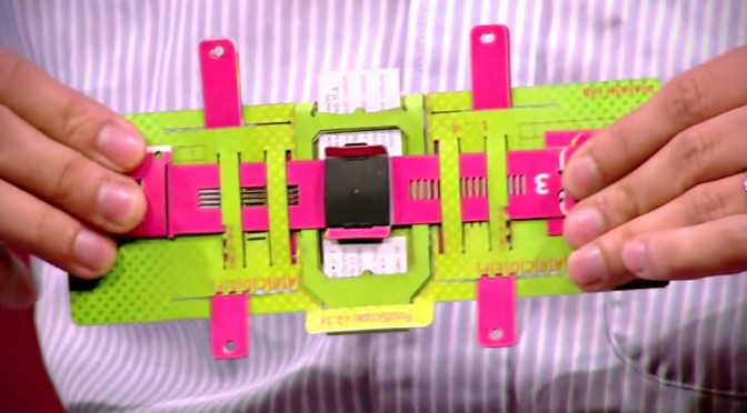 Foldscope-Origami microscópio de papel