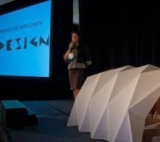 abrigo de papel design origami