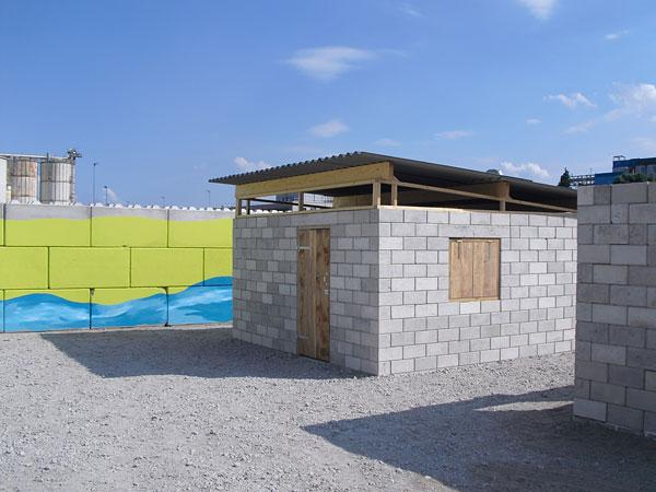 casa tijolos reciclagem de entulho