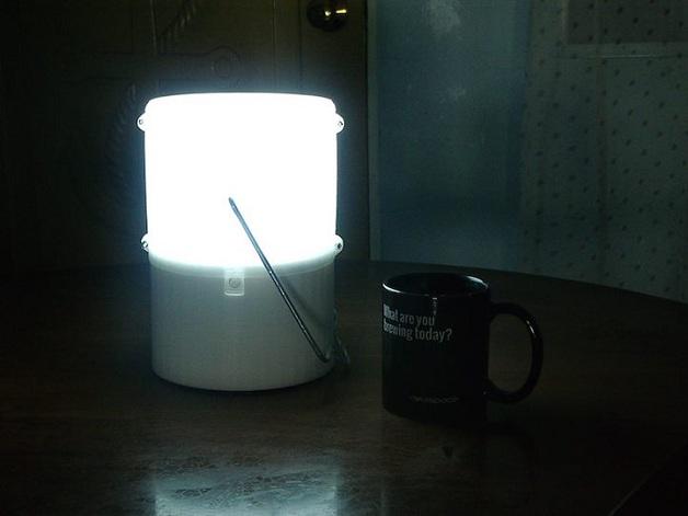lâmpada de água e sal