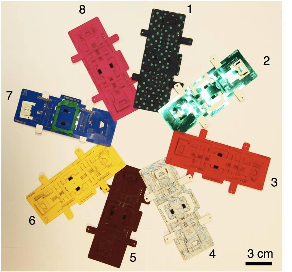 microscópio de papel foldscope