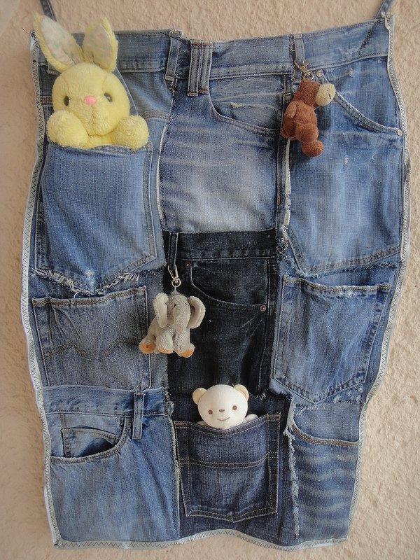 Porta-Trecos calças jeans
