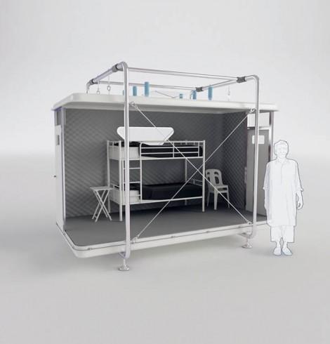abrigo pós-desastre design