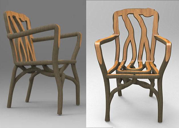 cadeira madeira full grown