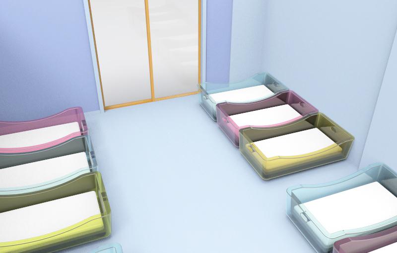 camas crianças sala sesta