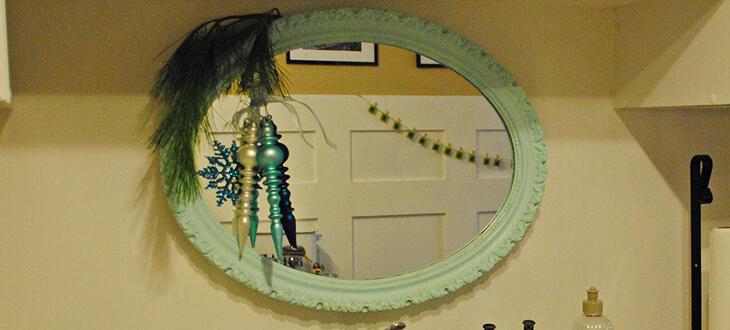 decoração low-cost espelho pneu