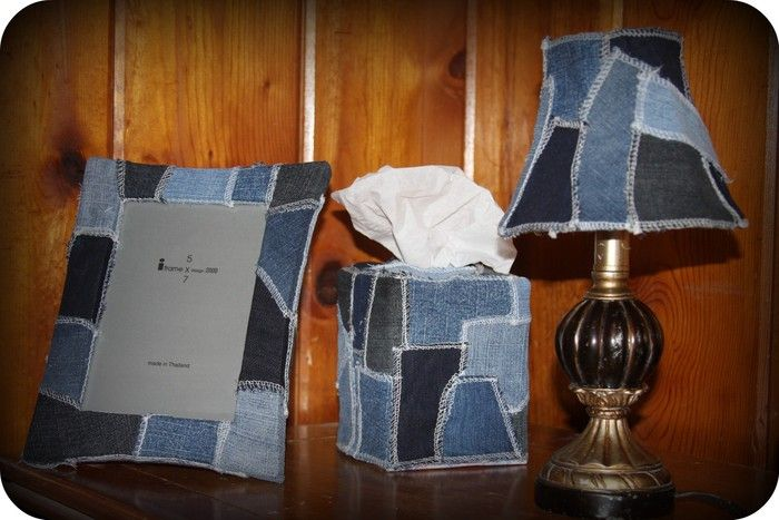 decoração reaproveitar calças de ganga