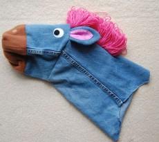 fantoche reaproveitar calças de ganga