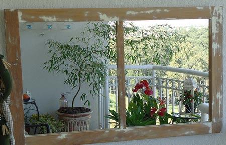 janela espelho reutilizar materiais de construção