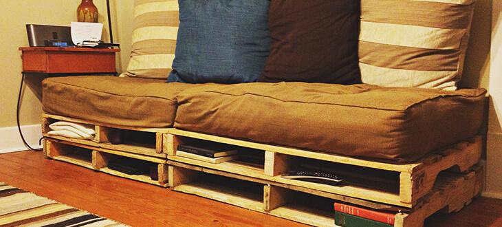 sofá paletes decoração low-cost