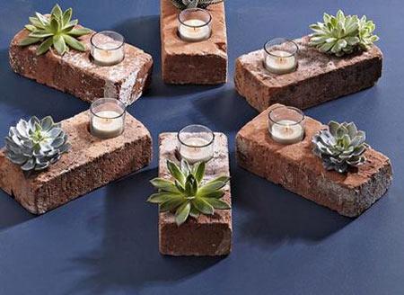 tijolos reutilizar materiais de construção vaso