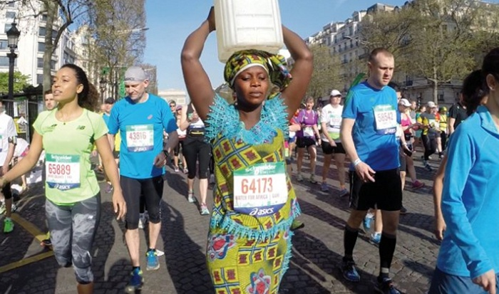 walking for water maratona de paris