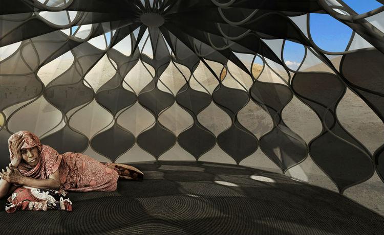 Abeer Seikaly design abrigo de emergência