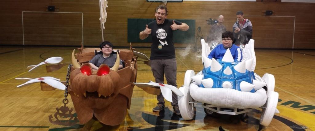 Mario Cart máscara cadeira de rodas