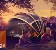 Orange Tent Tenda solar