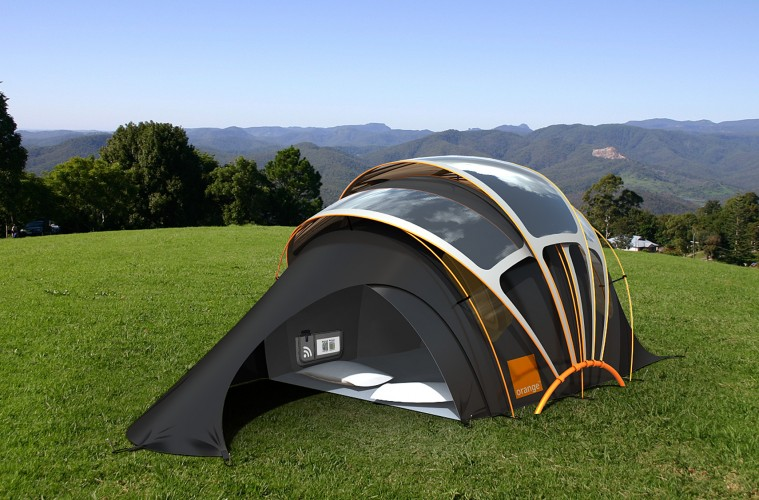 Tenda solar campismo tecnologia