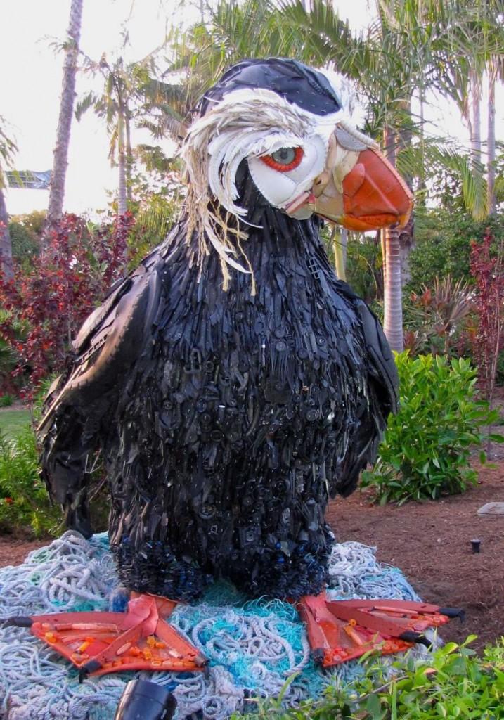 ave arte lixo consciencialização ambiental