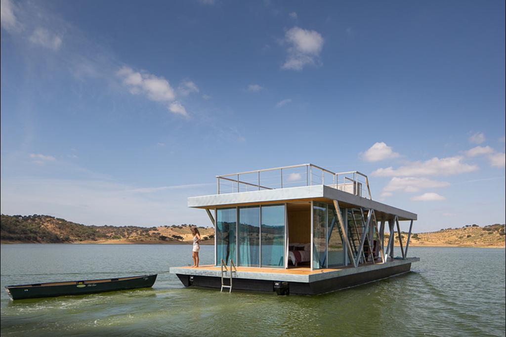 casa flutuante Alqueva