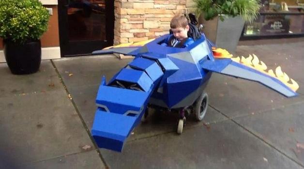 dia das bruxas máscaras cadeira de rodas