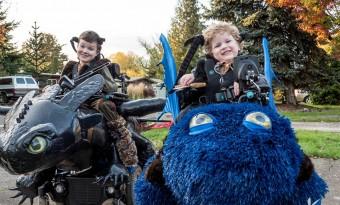 máscaras crianças halloween paralesia